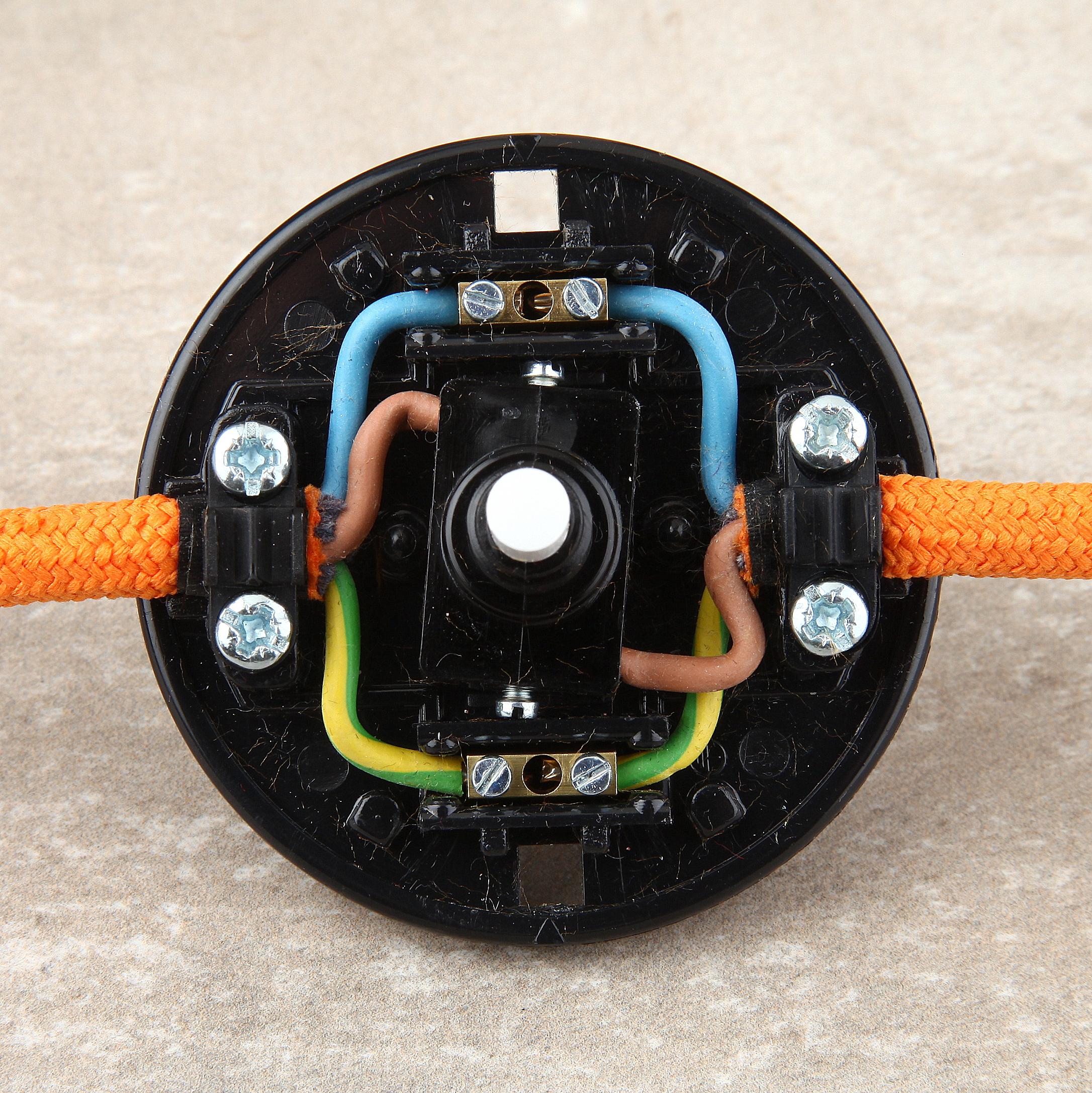 Lampen fusstretschalter selber verkabeln 3 diy lampenbau for Lampen verkabeln